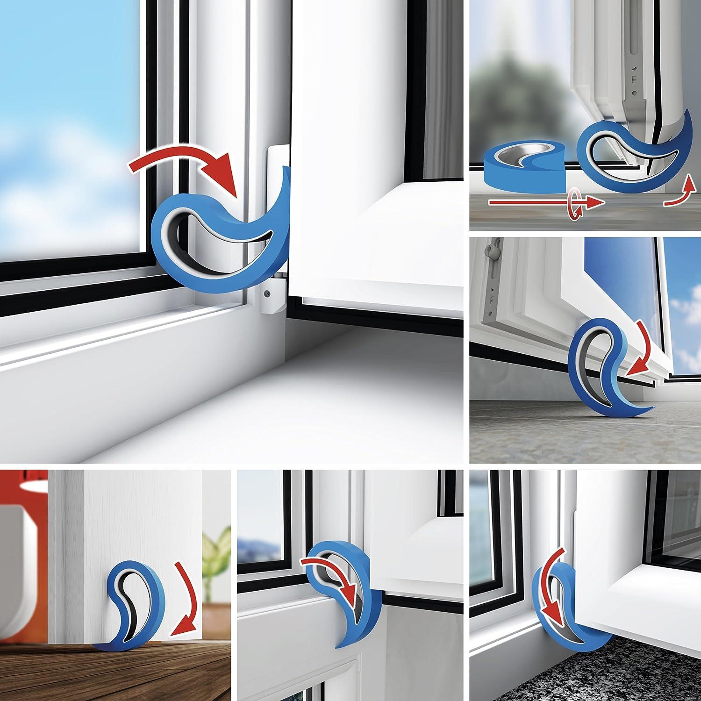 Stoppy Tope de Puerta//Ventana Juego de 4 Asequible en 14 Colores Transparente