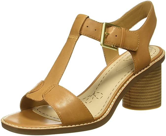 Clarks Women's Glacier Ray Leather Fashion Sandals Women's Fashion Sandals at amazon