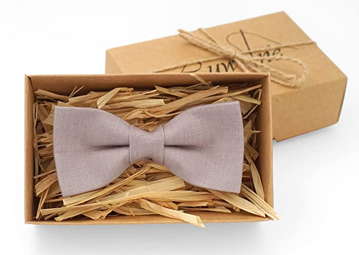 6d39495e9cce Pale mauve linen pretied bow ties for men and kids for boho or rustic  wedding ideas available with matching pocket square, pale mauve toddler  boys bow ties, ...