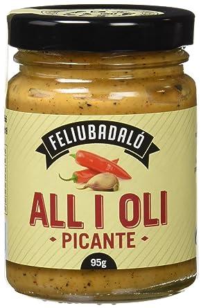 Feliubadalo Salsa Allioli Picante - 95 gr - [Pack de 3]