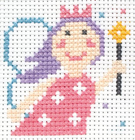 Anchor - Kit de punto de cruz para niños, diseño de princesa