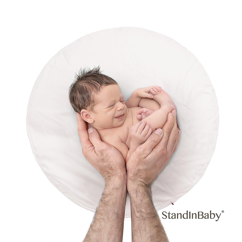 Desktop Beanbag. Newborn Photography Travel Size Posing beanbag Poser | Professional Ottoman | Baby Photo Prop & Pose Pillow | Newborn Photography Props StandInBaby BBag