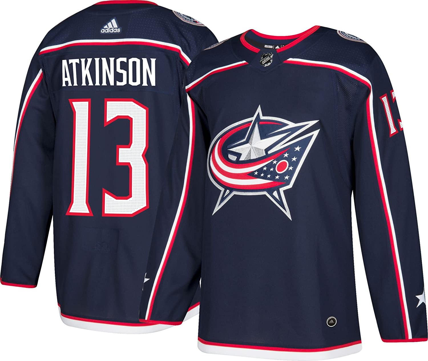 check out f49ae baecf Amazon.com : adidas Columbus Blue Jackets Cam Atkinson ...