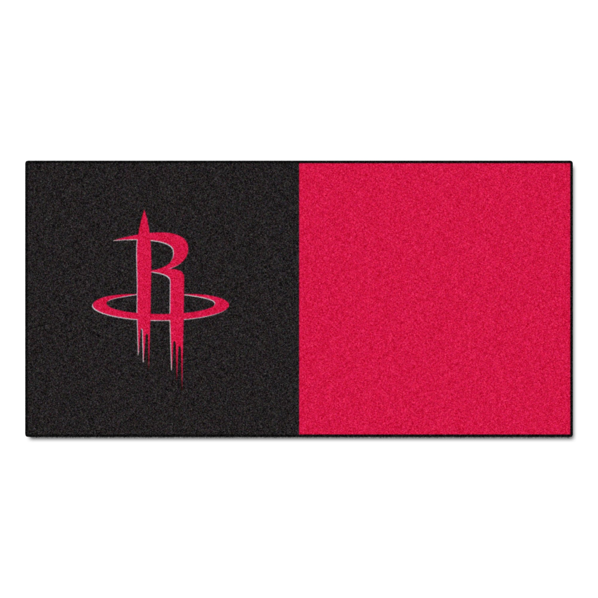 FANMATS NBA Houston Rockets Nylon Face Team Carpet Tiles