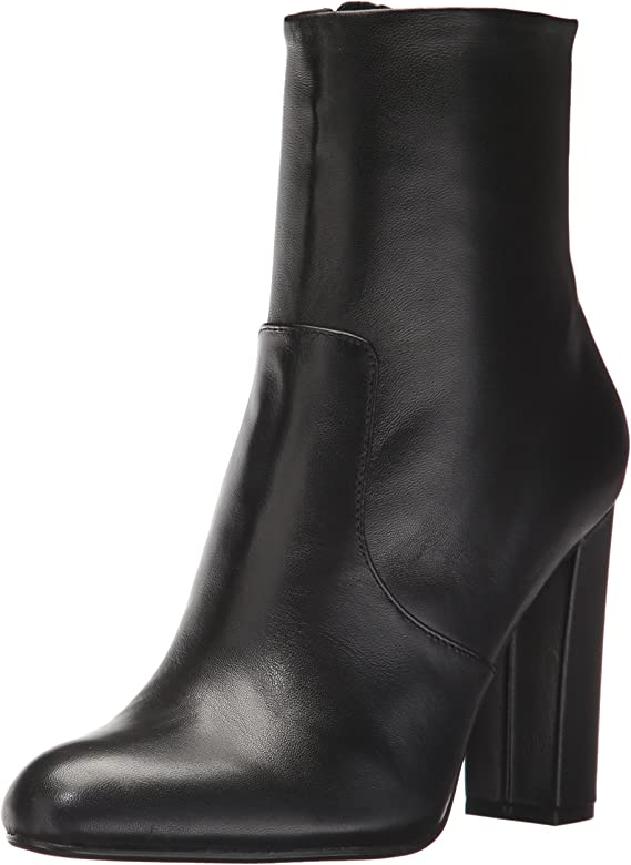 a6dd5665cd Amazon.com | Steve Madden Women's Editor Ankle Boot, Black Leather ...