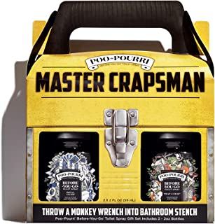 product image for Poo-Pourri Before-you-go Toilet Spray, Master Crapsman Set Of 2, Royal Flush & Trap-a-crap Scent