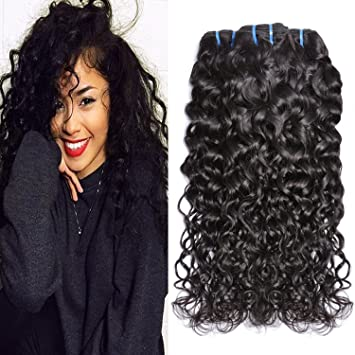 Amazon.com : Iwish Brazilian Hair Water Wave 3 Bundles Wet and ...
