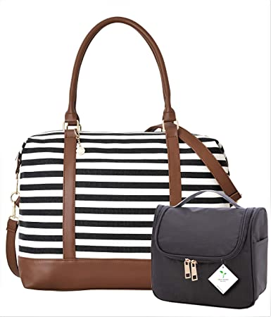 14c5c69387 Amazon.com  Ladies Women Canvas Travel Weekend Overnight Carry-on Shoulder Duffel  Tote Bag and Cosmetic Bag  Patriotic Sports