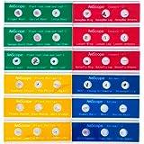 AmScope PS-P12X3 Kids Set of Color-coded Zoological and Botanical Prepared Specimen Slides, 36-Specimen