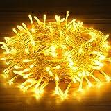 Guirnalda Luces, OMERIL Luces LED Navidad 15M con 8 Modo de Iluminación, Guirnalda Led Exterior IP 65 Impermeable, Ideal…