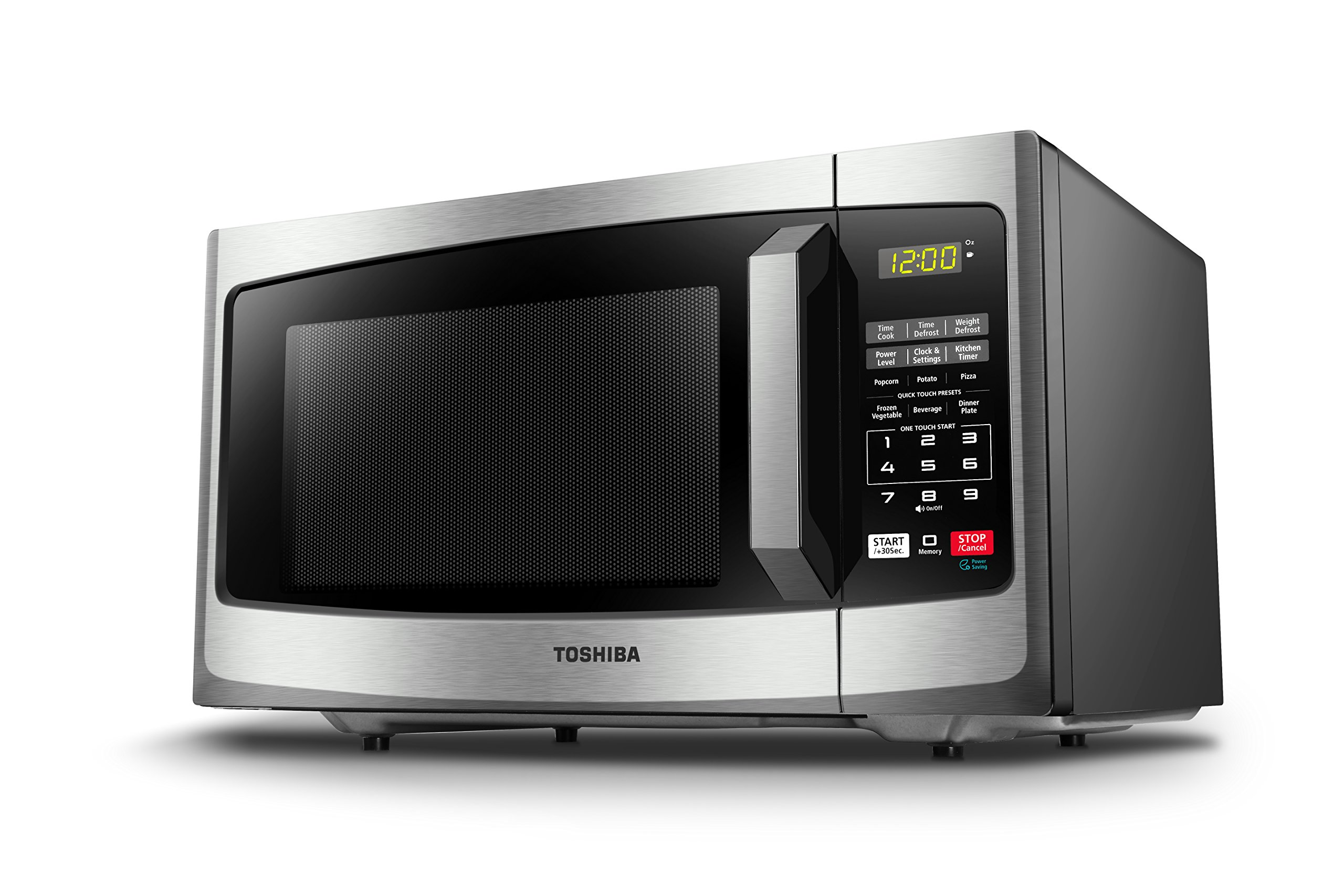 Toshiba EM925A5A-SS Microwave Oven with Sound On/Off ECO Mode and LED Lighting 0.9 cu. ft. Stainless Steel by Toshiba (Image #5)