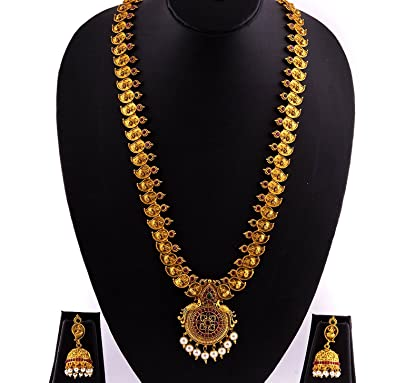 45a04860da Image Unavailable. Image not available for. Colour: Griiham 1 Gram Gold  Finish Necklace ...