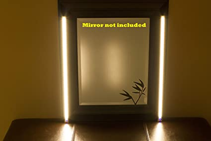 Amazon.com: MAKE UP MIRROR LED Light Dual 2ft VANITY MIRROR LIGHT ...