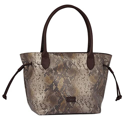 Gabor Shopper Damen Granada Boa, 43x28x17.5 cm, Tasche Damen, Schlange, Snake