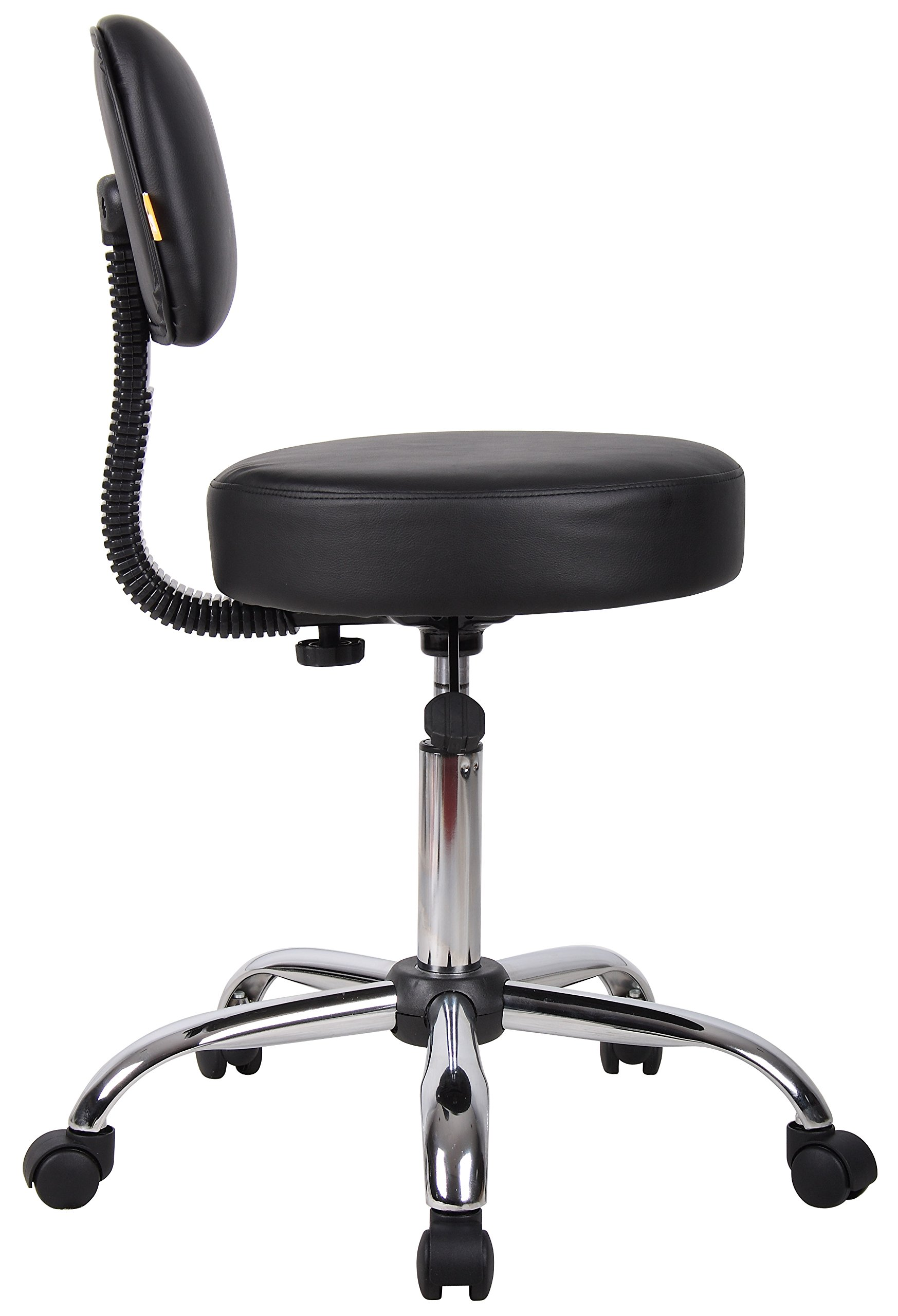 Boss Office Products B245-BK Be Well Medical Spa Stool with Back in Black by Boss Office Products (Image #6)
