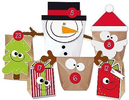Weihnachtskalender Zum Selber Machen.Kuschelich Diy Adventskalender Set Mix Zum Befüllen Weihnachtskalender Selber Machen Ohne Schere Alle Teile Gestanzt Wiederverwendbar