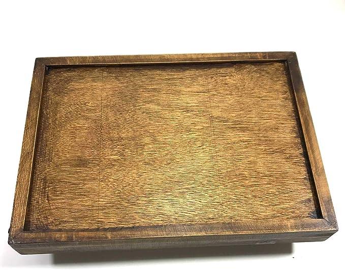 Thai JJ Mart Pack 2 Reed Grass madera de teca marco bandeja de ...