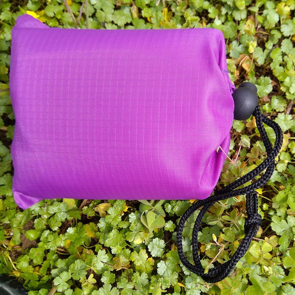 ADSROポータブル折りたたみ防水Sleeping Blanket Moistureproofアウトドアビーチキャンプピクニックマット B073DY96XW パープル パープル