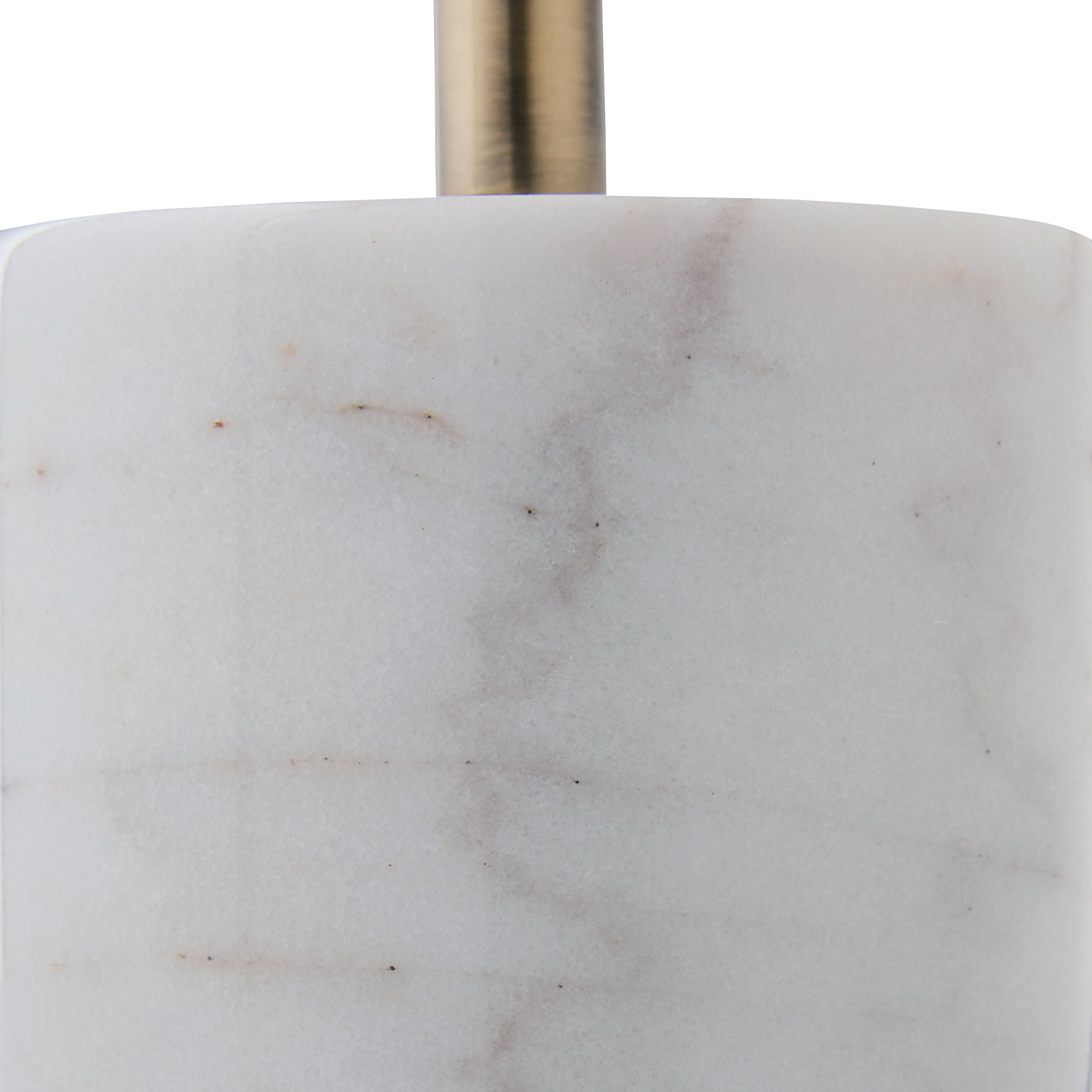 Rivet Modern Glass Globe and Marble Table Lamp with LED Bulb, 23''H, Brass, White by Rivet (Image #2)