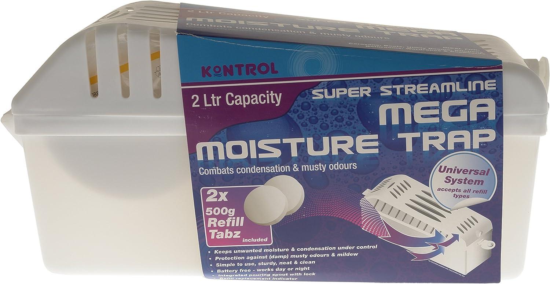 Kontrol Mega Moisture Trap Caja Secadora Antihumedad/deshumidificador, Color Blanco: Amazon.es: Coche y moto