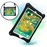 Apple iPad Air 2 case, iPad Pro 9.7 case with Stand, Shoulder Strap, Hand Strap | COOPER BOUNCE STRAP Shock Proof Silicone iPad Air case | Easy to Clean, Multi-Functional, Kid Friendly cover (Black)