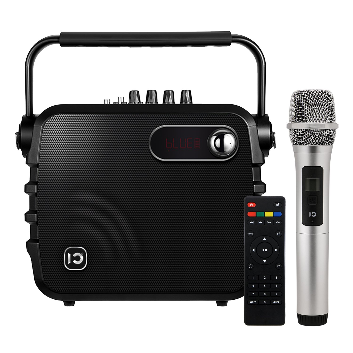 Voice Amplifier SHIDU K3 30 Watts Portable PA System with UHF Hand-held Microphone Wireless Bluetooth Speaker Built-in Rechargeable Battery & Remote Control for Home and Outdoors, Black