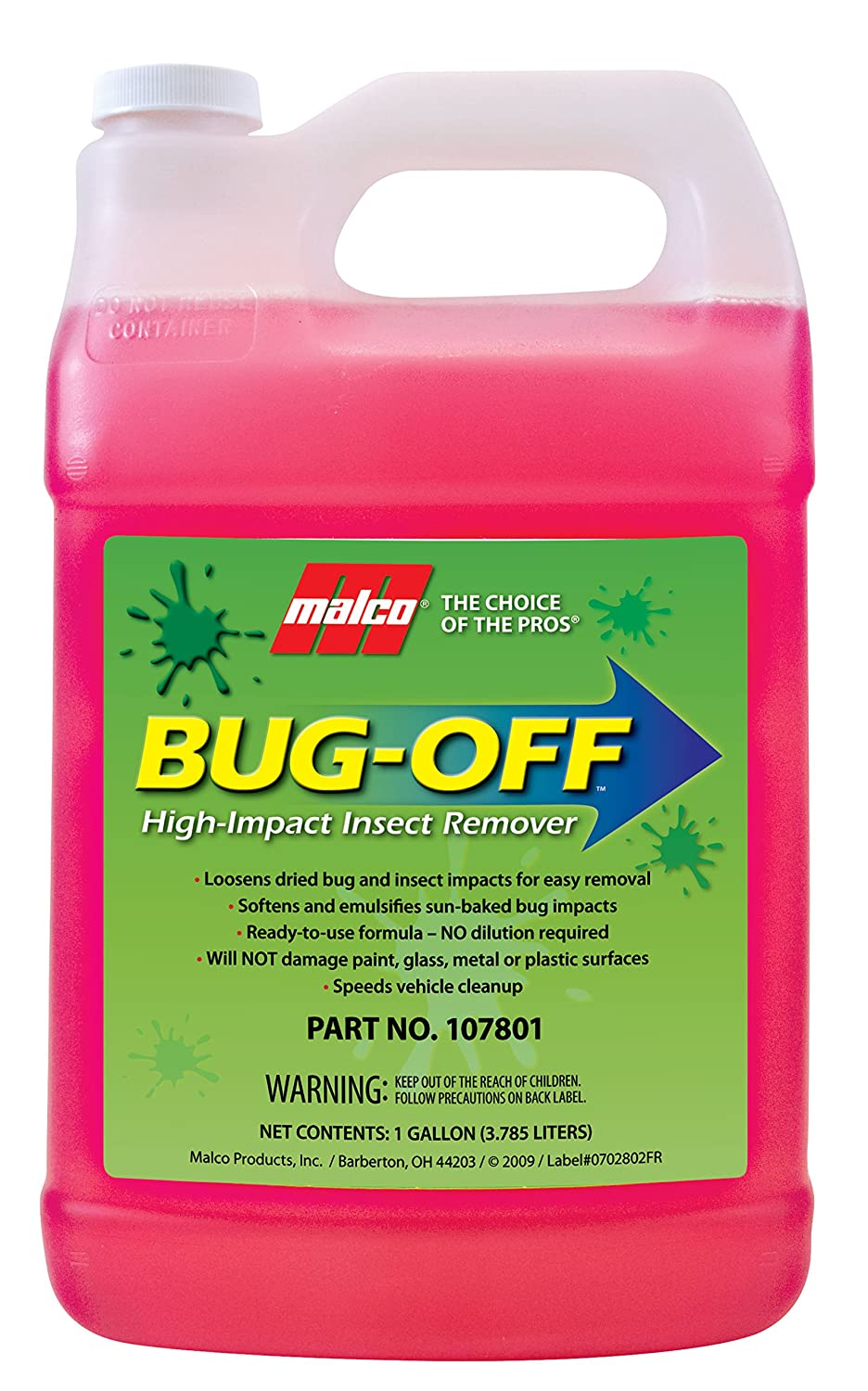 Malco Bug-OFF High Impact Insect Remover Gallon 4332944080