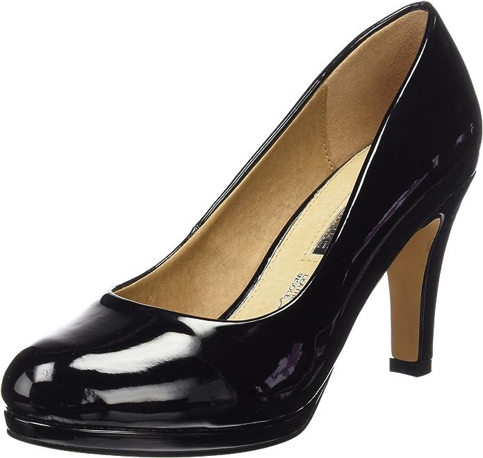 Mariamare Basic Calzado Señora, Zapatos de tacón con Punta Cerrada para Mujer, Negro (Charol Negro), 36 EU