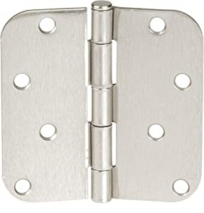Ilyapa 18 Pack of Door Hinges Satin Nickel - 4x4 Inch Interior Hinges for Doors with 5/8