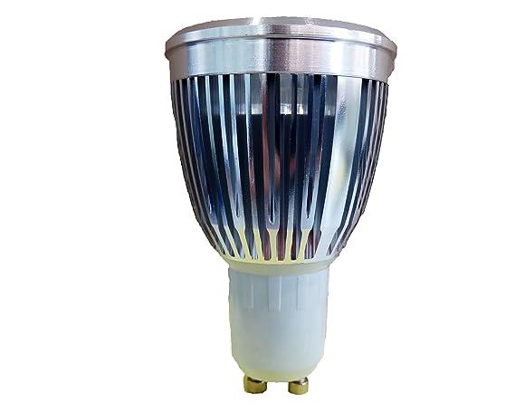 Bombilla LED tipo conexión GU10 PACK 10 UNIDADES cuerpo de aluminio 5W 450Lumens Luz blanca neutra