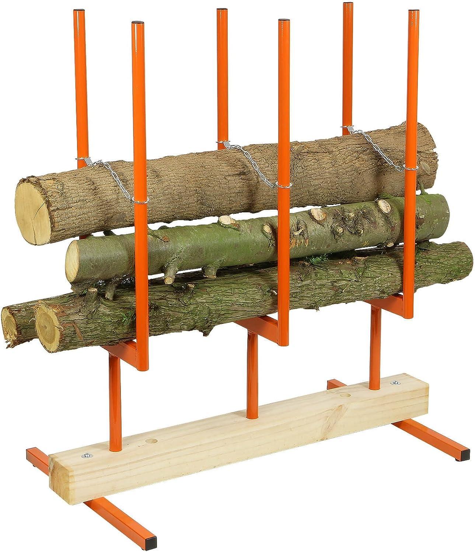 Forest Master - Soporte para Troncos (3 Unidades, Motosierra, Caballo)