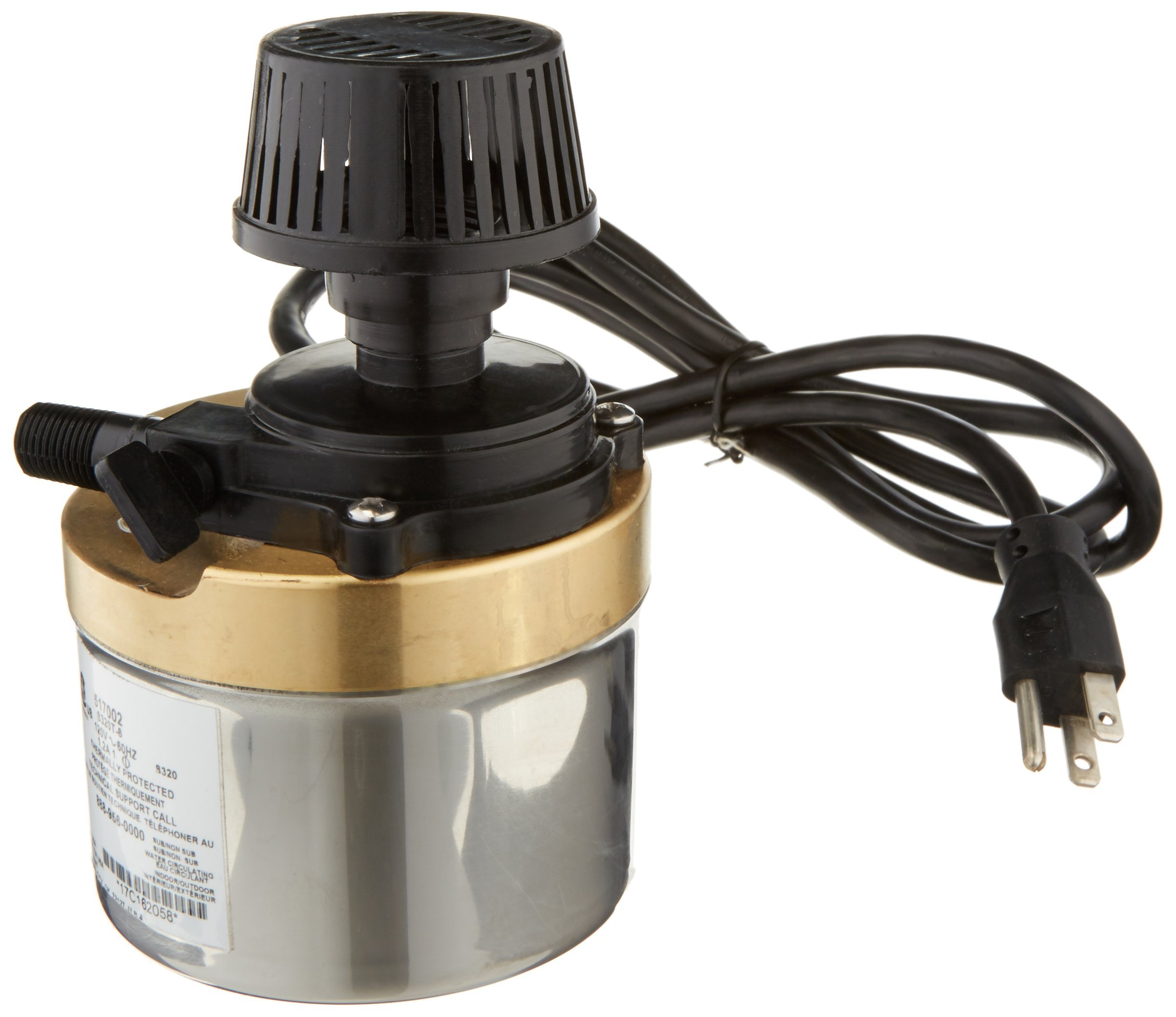 Little Giant 517002 Stainless Steel 320GPH Pump with 6-Feet Cord, Bronze by Little Giant