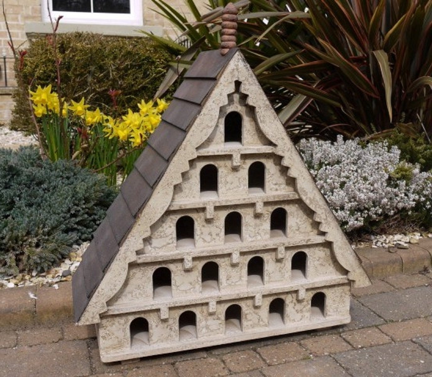 Antique style traditional vintage design wooden dovecote