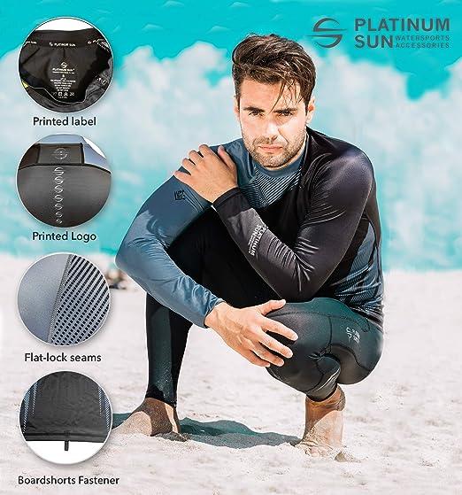 MEN/'S RASH GUARD BEACH LONG SLEEVE SURF WETSUIT SWIM TOP SHIRTS Y751+FREE SHORTS