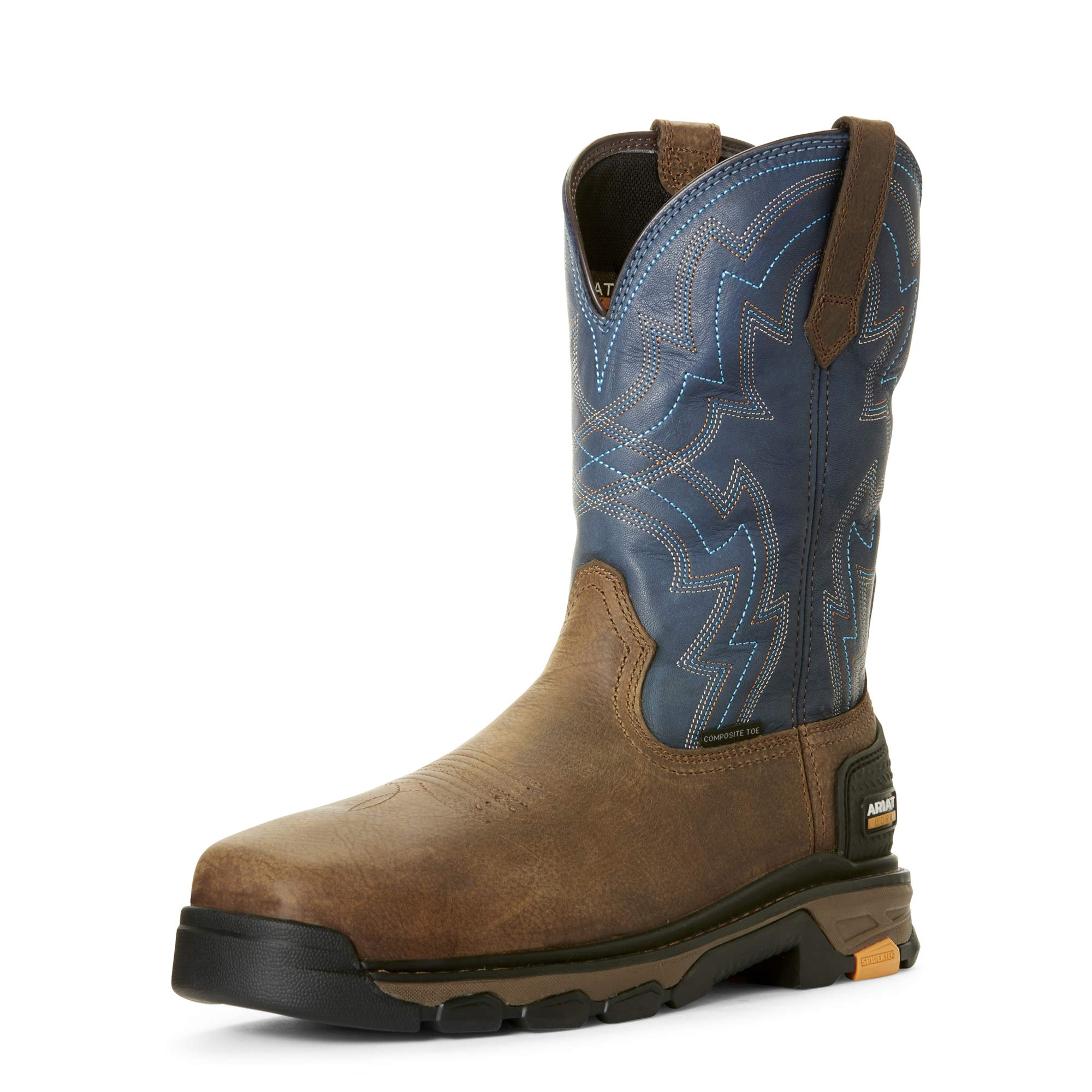 Ariat Men's Intrepid Force Comp Toe Industrial Boot, rye Brown/Blue, 10.5EE by ARIAT