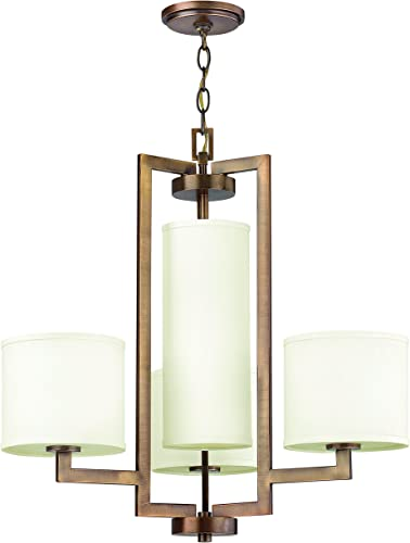 Hinkley 3209BR Transitional Four Light Chandelier from Hampton collection in Bronze Darkfinish,