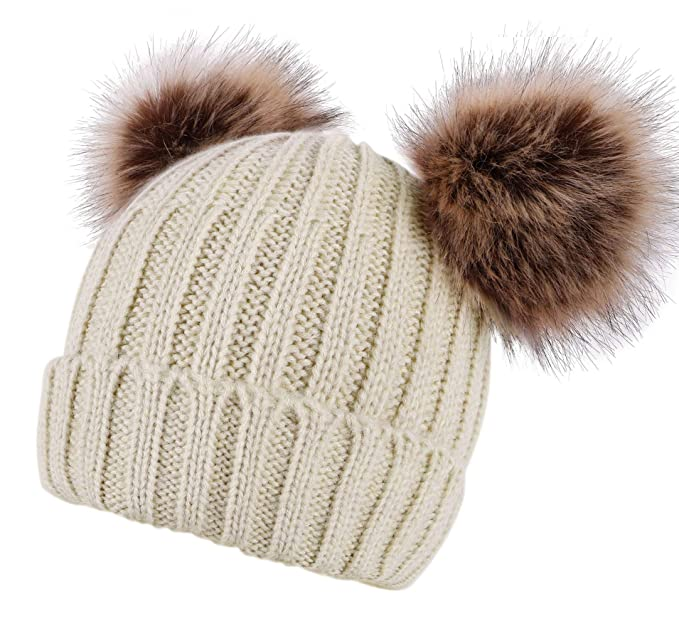 bf6814928f4 AbbyLexi Winter Ski Knit Warm Fleece Beanie Hat