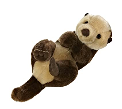 Amazon Com Aurora World Miyoni Sea Otter Plush Toys Games