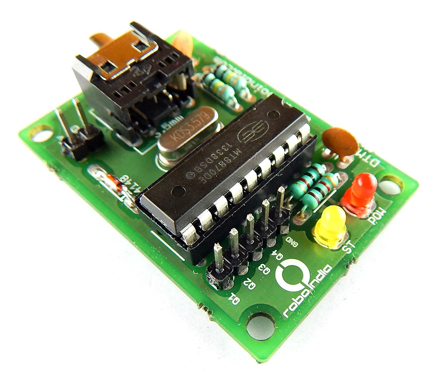 Robo India Ri 02 Dtmf Module Mt8870 Decoder With Auxiliary Cable Using Mt8870de Industrial Scientific
