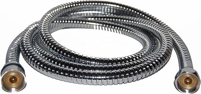 """Brauseschlauch 2 Meter Chrom-Silbergrau Standardanschluss 12,7 mm 1//2/"""" 8663"""