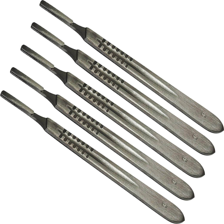 6-Piece Silver Modelcraft PKN9220#4 Scalpel Handle /& 5#26 Blades