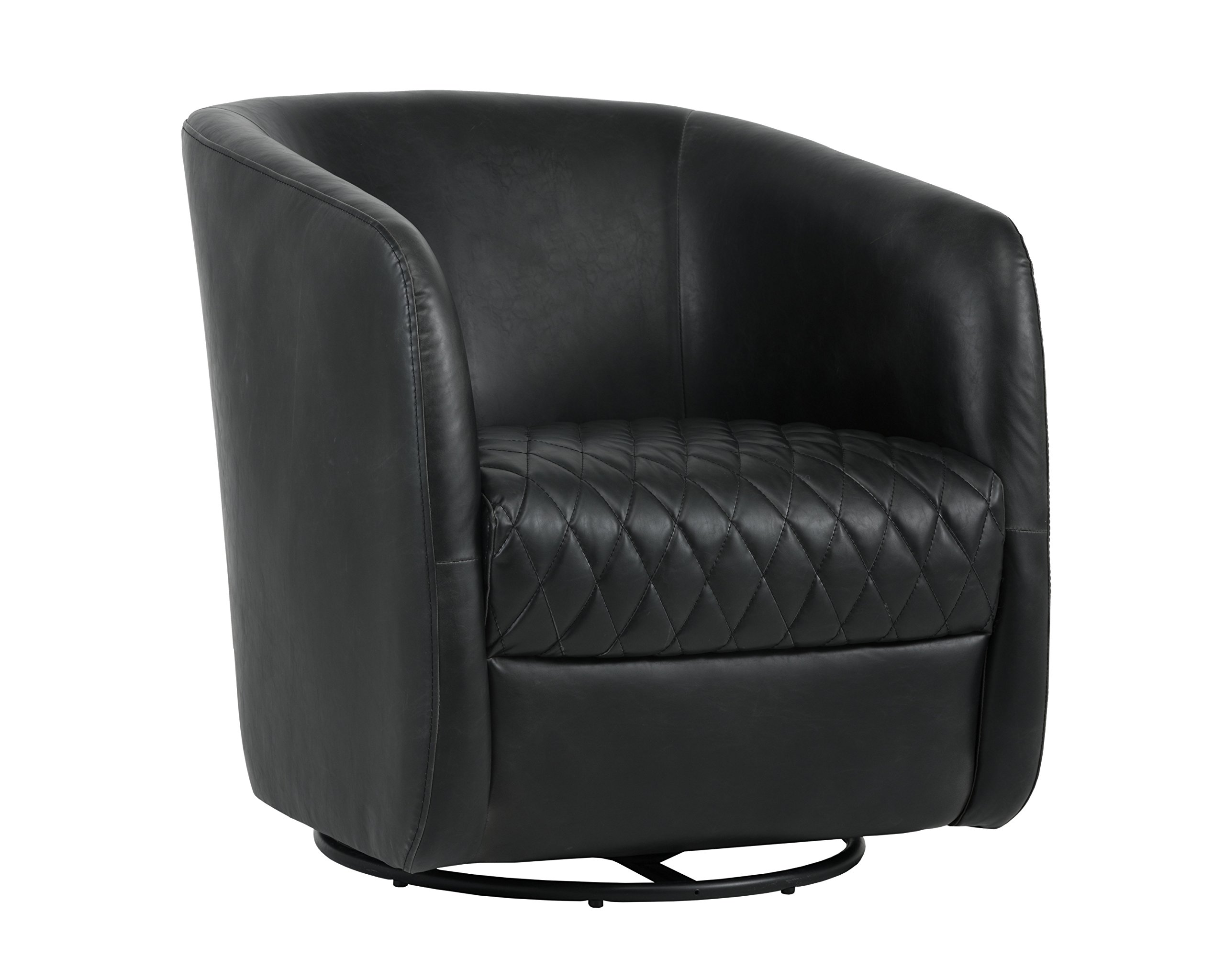 Sunpan Modern Dax Swivel Chair, Black by Sunpan Modern