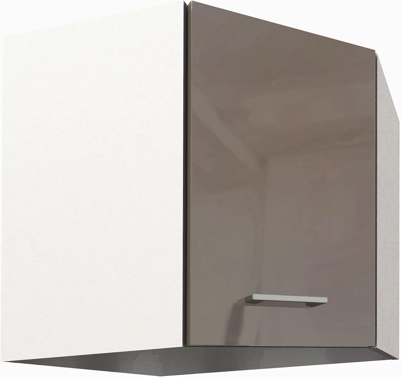 Taupe Panneaux de Particules Berlioz Creations Haut Meuble de Cuisine Angle 57,5 x 57,5 x 55,4 cm