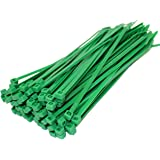 50 x GREEN CABLE TIES 200mm x 4.8mm ZIP TIE BASES ALL SIZES