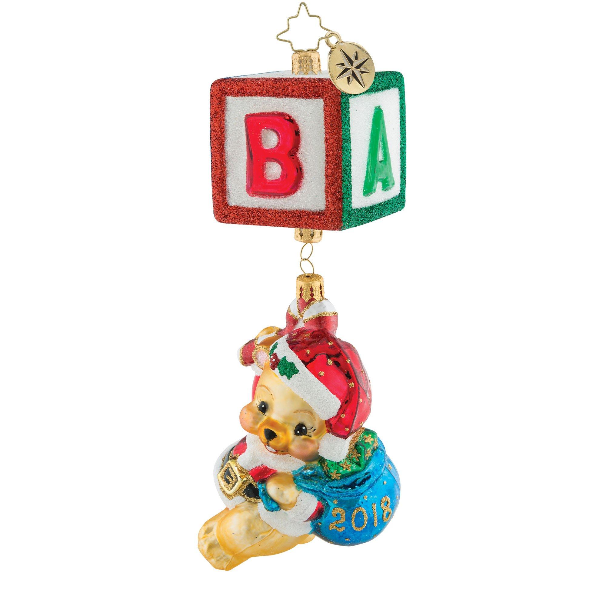 Christopher Radko Bear Block Party Christmas Ornament