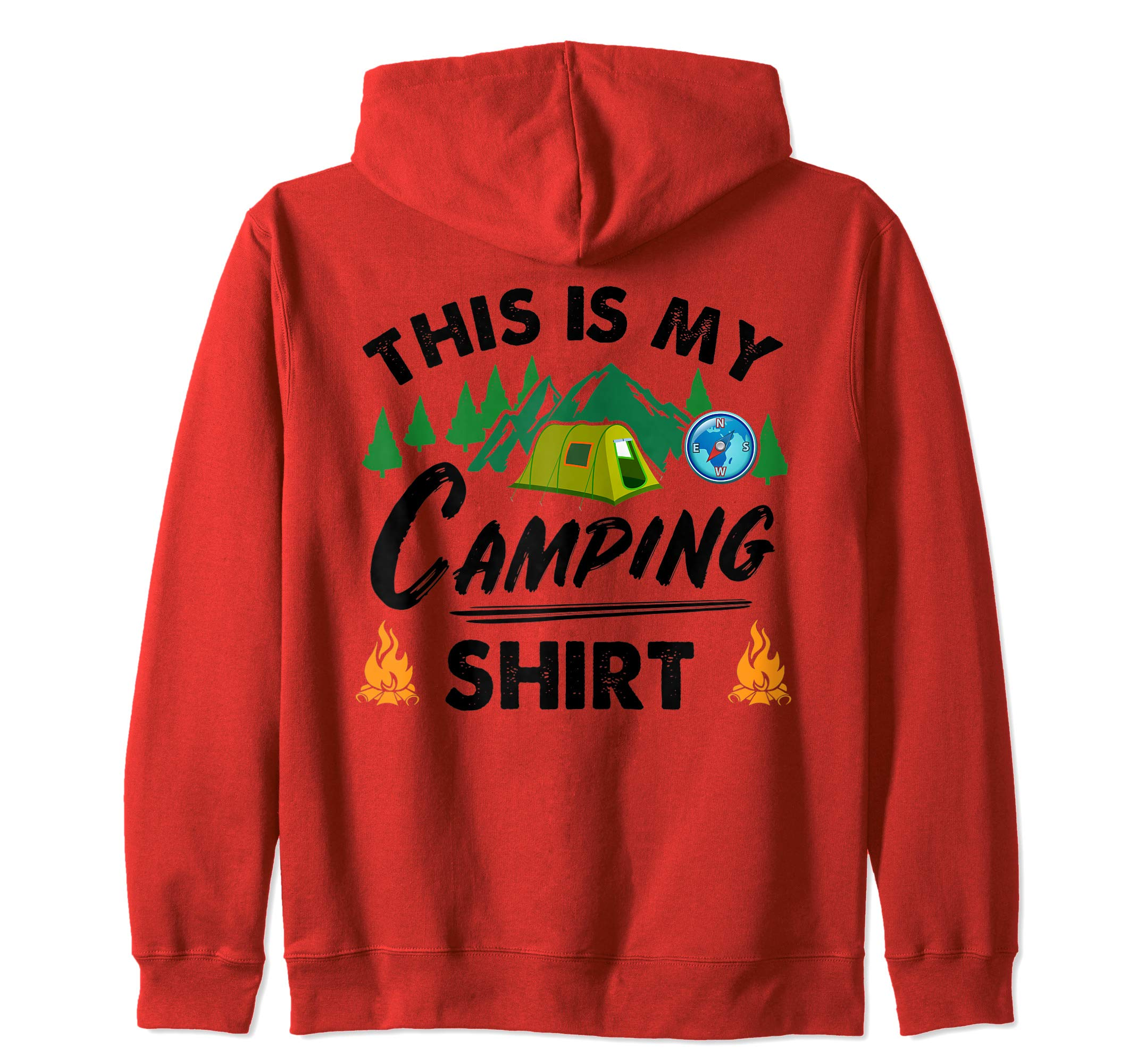 This Is My Camping Shirt Funny Camper Gift Zip Hoodie by Funny Camping Gifts Tizy Apparel