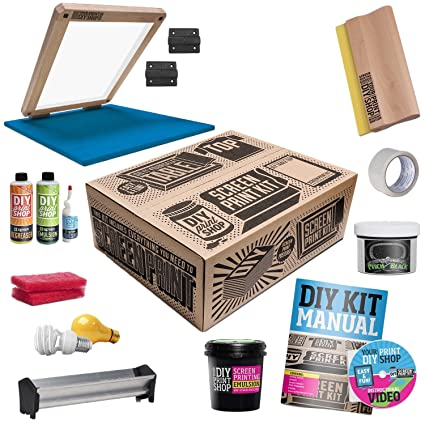bfac4ed9b Image Unavailable. Image not available for. Colour: DIY PRINT SHOP Classic  Table Top Screen Printing Kit