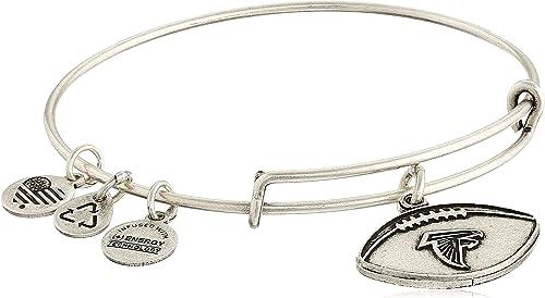 Alex and Ani NFL Football Logo Expandable Wire Bangle Bracelet