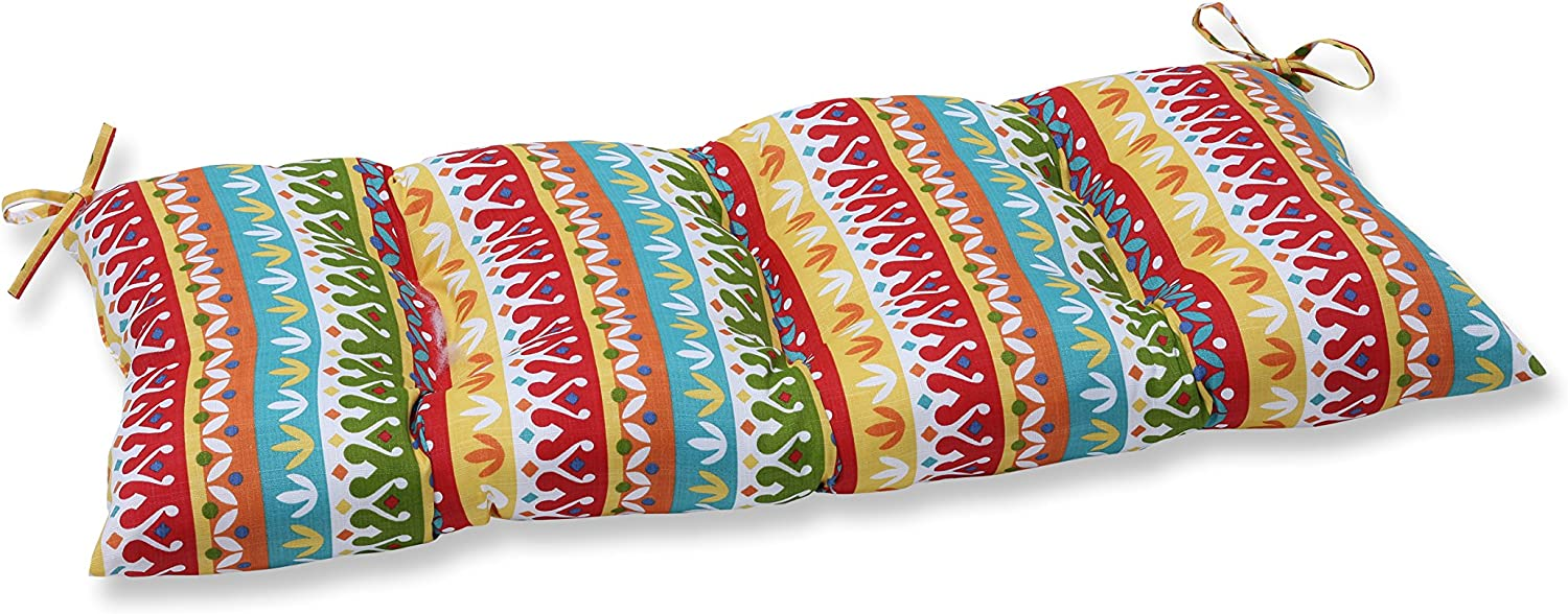 """Pillow Perfect Outdoor/Indoor Cotrell Garden Tufted Bench/Swing Cushion, 44"""" x 18.5"""", Multicolored"""