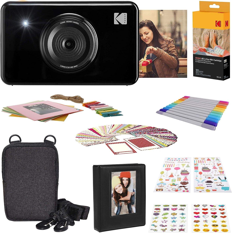 Kodak Mini Shot Wireless Sofortbild Digitalkamera Schwarz 2x3 Zoll Druck Mit Patentierter 4 Pass Drucktechnologie Geschenk